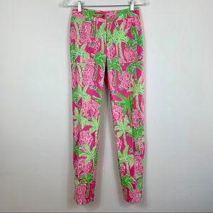Lilly Pulitzer palm tree elephant pants size 0